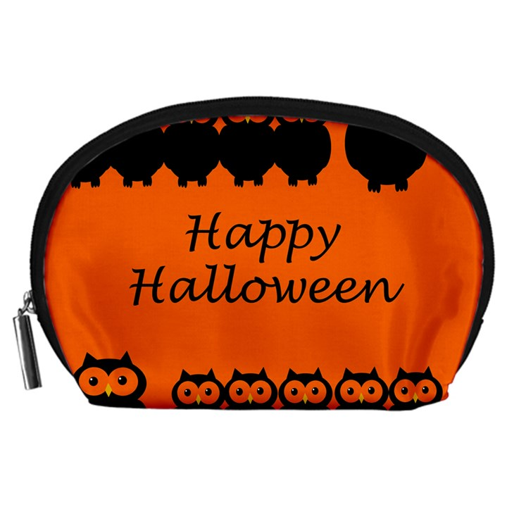 Happy Halloween - owls Accessory Pouches (Large)