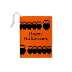 Happy Halloween - owls Drawstring Pouches (Small)  Back