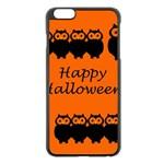 Happy Halloween - owls Apple iPhone 6 Plus/6S Plus Black Enamel Case Front