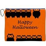 Happy Halloween - owls Canvas Cosmetic Bag (XXXL)