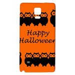 Happy Halloween - owls Galaxy Note 4 Back Case Front