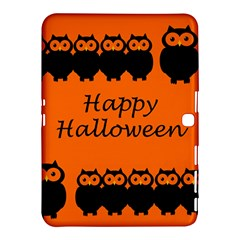 Happy Halloween   Owls Samsung Galaxy Tab 4 (10 1 ) Hardshell Case