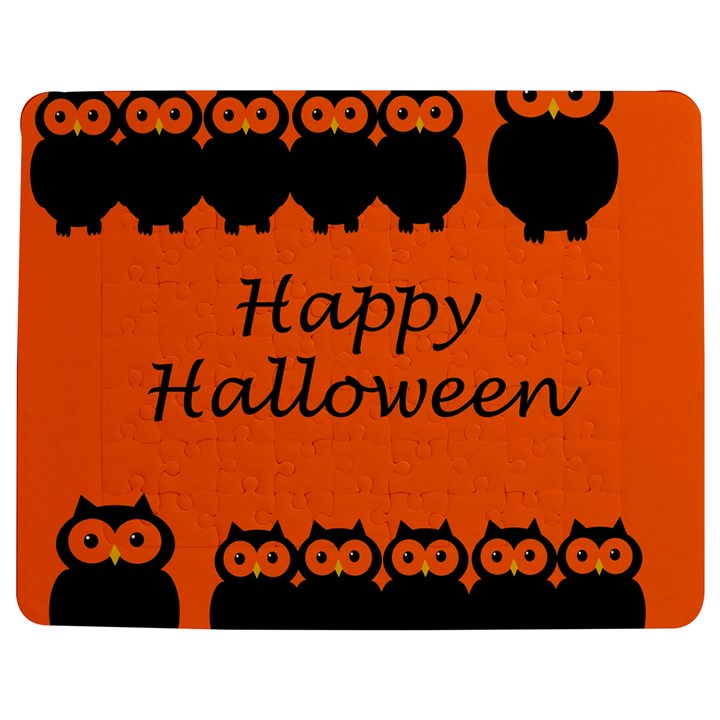 Happy Halloween - owls Jigsaw Puzzle Photo Stand (Rectangular)