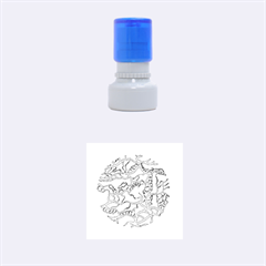 Twenty One Pilots Tear In My Heart Soysauce Remix Rubber Round Stamps (small) by Onesevenart
