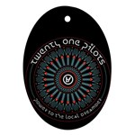 Twenty One Pilots Ornament (Oval)