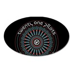 Twenty One Pilots Oval Magnet