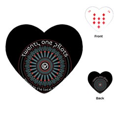 Twenty One Pilots Playing Cards (heart)  by Onesevenart