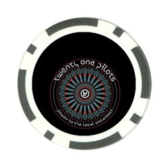 Twenty One Pilots Poker Chip Card Guards by Onesevenart