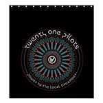 Twenty One Pilots Shower Curtain 66  x 72  (Large)