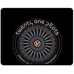 Twenty One Pilots Fleece Blanket (medium)  by Onesevenart