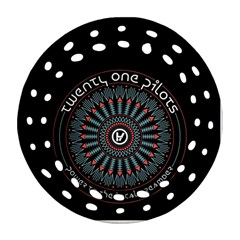 Twenty One Pilots Ornament (Round Filigree)  by Onesevenart