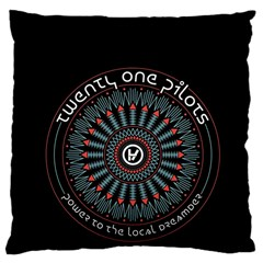 Twenty One Pilots Large Cushion Case (one Side) by Onesevenart
