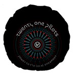 Twenty One Pilots Large 18  Premium Round Cushions