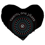 Twenty One Pilots Large 19  Premium Heart Shape Cushions