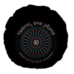 Twenty One Pilots Large 18  Premium Flano Round Cushions by Onesevenart