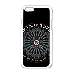 Twenty One Pilots Apple Iphone 6/6s White Enamel Case by Onesevenart
