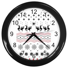 Ugly Christmas Humping Wall Clocks (black) by Onesevenart