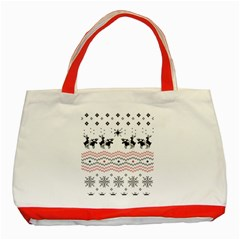 Ugly Christmas Humping Classic Tote Bag (red) by Onesevenart