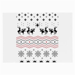 Ugly Christmas Humping Large Glasses Cloth by Onesevenart