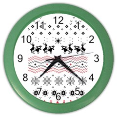 Ugly Christmas Humping Color Wall Clocks by Onesevenart