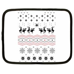 Ugly Christmas Humping Netbook Case (xl)  by Onesevenart