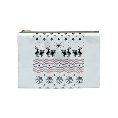 Ugly Christmas Humping Cosmetic Bag (medium)  by Onesevenart