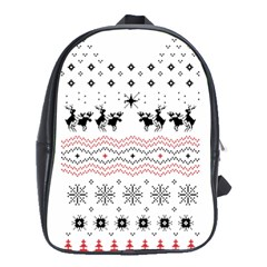 Ugly Christmas Humping School Bags(large)  by Onesevenart