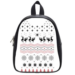 Ugly Christmas Humping School Bags (small)  by Onesevenart