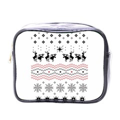 Ugly Christmas Humping Mini Toiletries Bags by Onesevenart