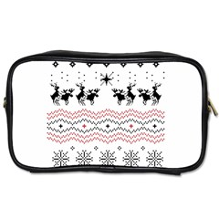 Ugly Christmas Humping Toiletries Bags by Onesevenart