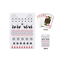 Ugly Christmas Humping Playing Cards (mini)  by Onesevenart