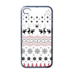 Ugly Christmas Humping Apple Iphone 4 Case (black) by Onesevenart
