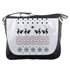 Ugly Christmas Humping Messenger Bags by Onesevenart