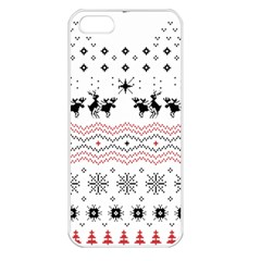 Ugly Christmas Humping Apple Iphone 5 Seamless Case (white) by Onesevenart
