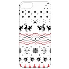 Ugly Christmas Humping Apple Iphone 5 Classic Hardshell Case by Onesevenart