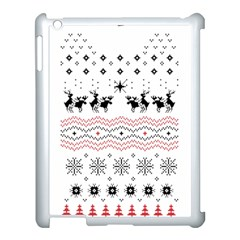 Ugly Christmas Humping Apple Ipad 3/4 Case (white) by Onesevenart