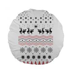 Ugly Christmas Humping Standard 15  Premium Round Cushions by Onesevenart