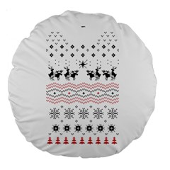 Ugly Christmas Humping Large 18  Premium Round Cushions by Onesevenart