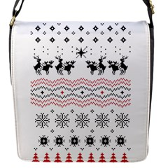 Ugly Christmas Humping Flap Messenger Bag (s) by Onesevenart