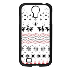 Ugly Christmas Humping Samsung Galaxy S4 I9500/ I9505 Case (black) by Onesevenart