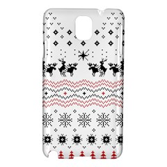 Ugly Christmas Humping Samsung Galaxy Note 3 N9005 Hardshell Case by Onesevenart