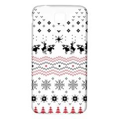 Ugly Christmas Humping Samsung Galaxy S5 Back Case (white) by Onesevenart