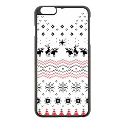 Ugly Christmas Humping Apple Iphone 6 Plus/6s Plus Black Enamel Case by Onesevenart