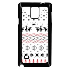 Ugly Christmas Humping Samsung Galaxy Note 4 Case (black) by Onesevenart