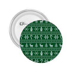 Ugly Christmas 2.25  Buttons by Onesevenart