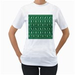 Ugly Christmas Women s T-Shirt (White) (Two Sided)