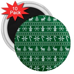 Ugly Christmas 3  Magnets (10 Pack)  by Onesevenart