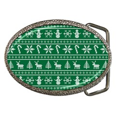 Ugly Christmas Belt Buckles by Onesevenart