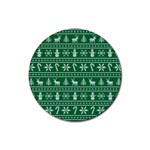 Ugly Christmas Rubber Round Coaster (4 pack)