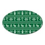 Ugly Christmas Oval Magnet